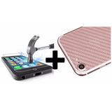 Capa Skin Película Traseira Adesivo Fibra Carbono P/ Android