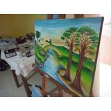 Paisaje Pintado Al Oleo