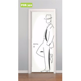 Adesivo De Porta Banheiro Masculino Malandro Carioca Mod.352