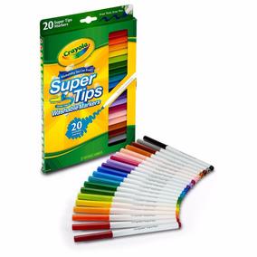 Combo 2 X Crayola 20 Cores Canetinhas Laváveis Originais