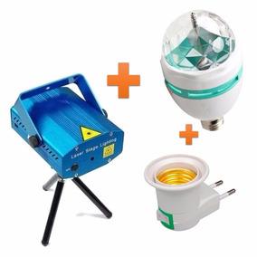 Lampara Giratoria Kit Luces + Laser Multipunto Con Cooler