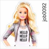 Adesivo Infantil Desenho Barbie Bolsa Fashion Job0092