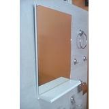 Espejo C/repis Laqueado P/ Baño 40x70 Consulte Otras Medidas