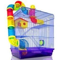 Gaiola Hamster Labirinto Tubos 3 Andares Completa
