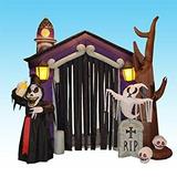 Decoración 8.5 Pie De Halloween Castillo Inflable Casa Enca