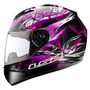 Casco Ls2 Ff352 Flutter Black Purple Mujer Motorbikes