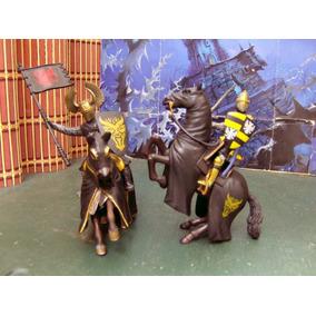 Lote Figuras Medieval Caballeros Negro Schleich Blue Box Lee