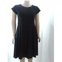 Vestido Feminino Em Viscolycra De Bolinhas Plus Size