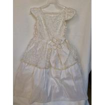 Vestido Presentacion, Bautismo, Bautizo Color Ivory Talla 2