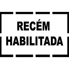 Adesivo Vinil Motorista Recém Habilitada Habilitado 30x20cm