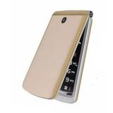 Telefone Celular Para Idosos Sos Flip 2g Viva 4 Dual Dourado