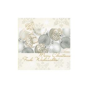 Guardanapos Hudson Silver Shiny Balls 20 Unidades Paper Desi