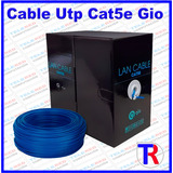 Bobina Cable De Red Utp Cat-5e 305 Mts Gio Internet