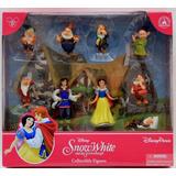Disney Parks Set De 9 Figuras De Blanca Nieves Unico!!!