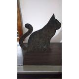 Gato Segura Porta Mdf Moldura Artesanato Novo Enfeite Decor