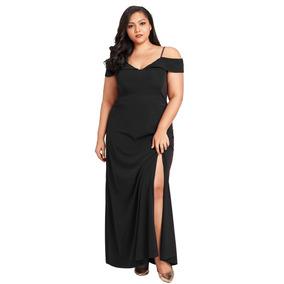 Vestido Largo De Fiesta Elegante En Color Negro