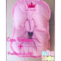 Capa Para Bebê Conforto Personalizada Feminina- Nome + Coroa