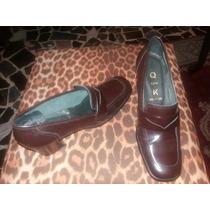 Zapatos De Dama Tipo Mocasin ,marca Q And K. Talla 38