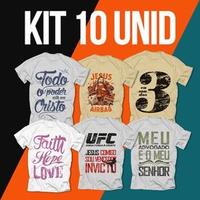 Camisetas Gospel Originais - Kit Com 10 Unidades Atacado