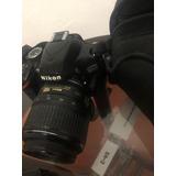 Nikon D3200 + Objetivo + Memoria 8 Gb + Cargador Y Cable...