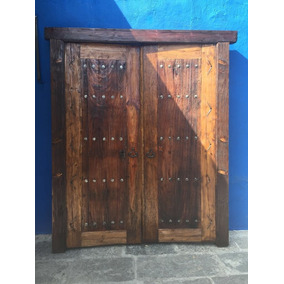 puerta antigua de madera huanacaxtle modelo g201 - Puertas De Madera Antiguas