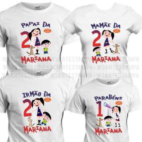 5 Camisetas Show Da Luna Aniversário Temático Camisa Festa de3c9a1a447