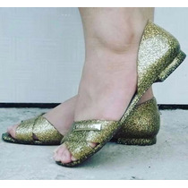 Sapatilha Petite Jolie Pj 1810 Glitter Ouro Frete Gratis