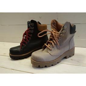 Botas Borcegos Cuero Vison - 617gu - Zapatos Mujer Morr
