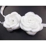 Tiara De Fita Para Cabelo Noiva Arranjo Flor Branca