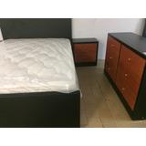 Dormitorio Matrimonial Acabado Espectacular Wmedidas 140x190
