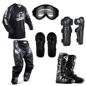 Kit Equipamento Insane Motocross Trilha Enduro Pro Tork
