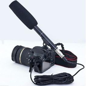 Microfone Direcional Shotgun Câmera Entrevista Nikkon Canon