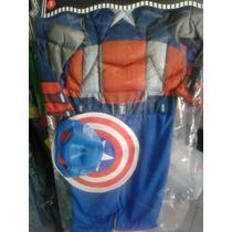 Disfraz Capitán América Musculoso Niños