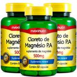 Cloreto De Magnésio P A 500mg - Maxinutri - 3x60 Cápsulas