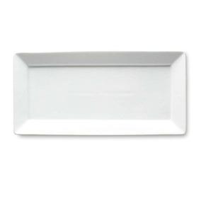 Tag Whiteware Porcelana Rectangular De Cerámica Plato De Se