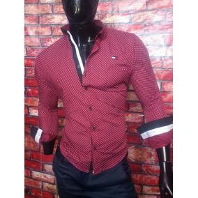 Camisa Para Caballero Slim Fit Roja