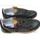 Tennis Zapato Deportivo Alpineswiss Cuero Negro-beish Casual