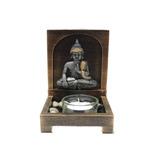 Porta Velas Buda Meditando 15cm X 9cm