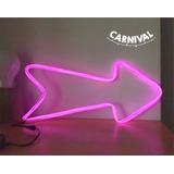 Cartel Flecha Luminoso Neon Led Decoración