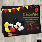 Invitaciones Digitales Personalizadas Mickey Mouse