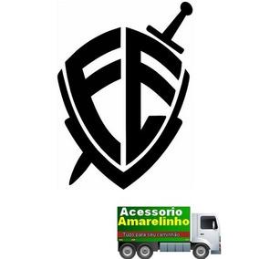 Adesivo Escudo Da Fé Grande P/ Caminhão 40x25cm