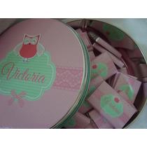 Chocolates Personalizados+tarjetitas +lata-nacimiento -baby