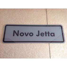 Placa Decorativa Em Acrílico Vw Jetta 40x 13cm Autocolante