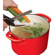 Tesoura 2 Em 1 Clever Cutter - Importada Fatiador De Legumes