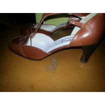 Zapatos Nardi En Piel Color Caramelo Casi Nuevos