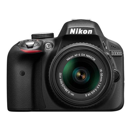 Nikon D3300 18-55mm VR II Kit DSLR cor preto