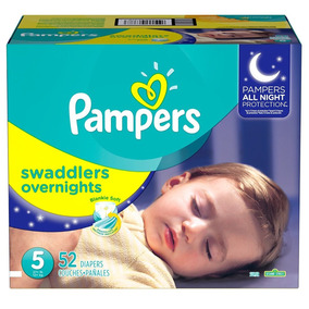 Pañales Pampers Overnight,talla 5, 52 Pzs