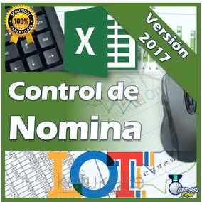 Control De Nomina 2017 Recibos De Pago