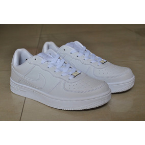 Kp3 Zapatos Nike Air Force One Blanco All White 35 Al 41
