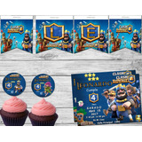 Kit Imprimible Clash Royale Candy Bar Invitacion Cumpleaños